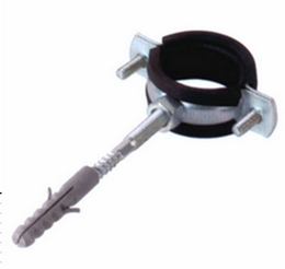 FS-138 PIPE CLAMP WITH RUBBER FIXED HANGER BOLT&PLUG